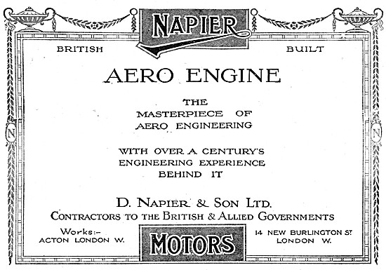 Napier Aero Engines 1917