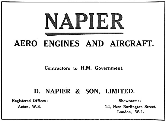 Napier Aero Engines 1918