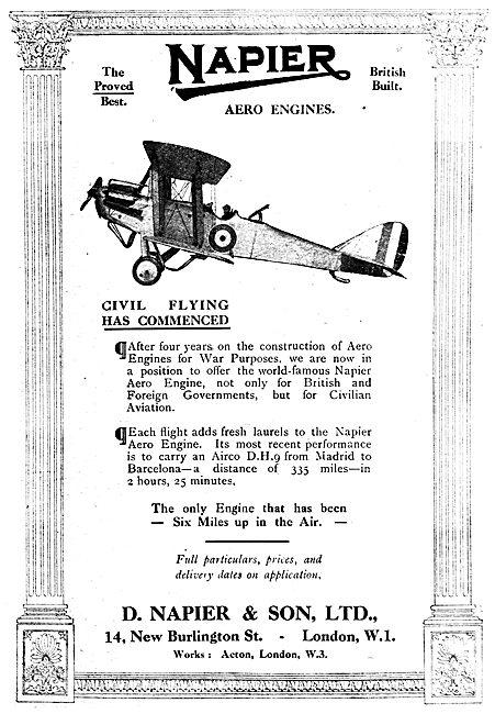 Napier Aero Engines - DH9