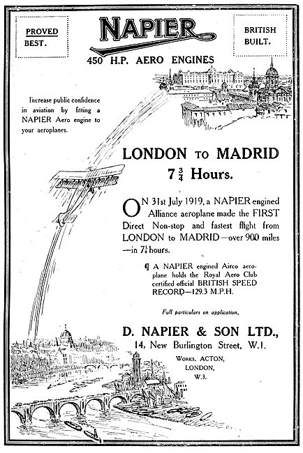 Napier Aero Engines: London-Madrid