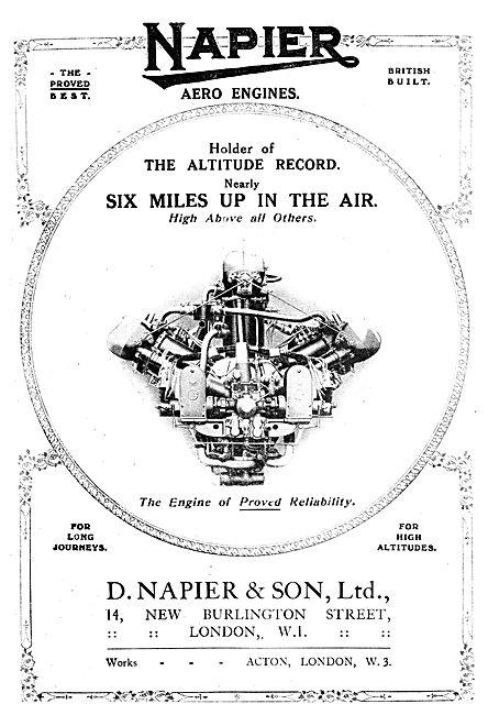 Napier Aero Engines - Altitude Record