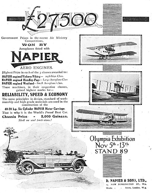 Napier Engines Are Fitted To The Vickers Viking & Westlands