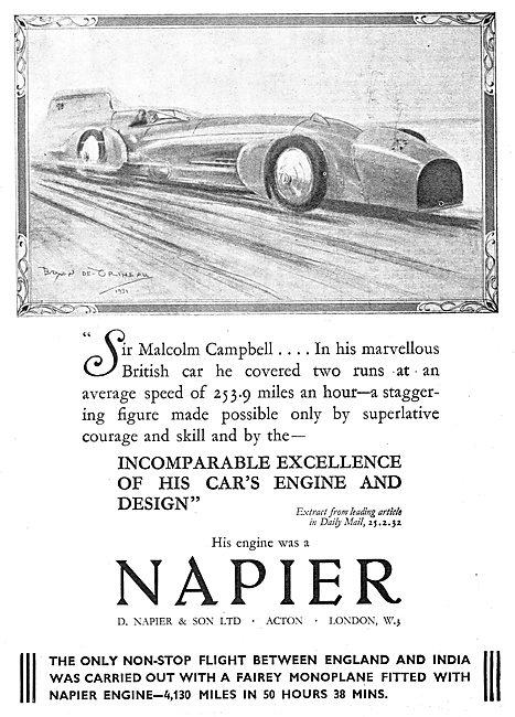 Napier Aero Engine - Malcolm Campbell Blue Bird