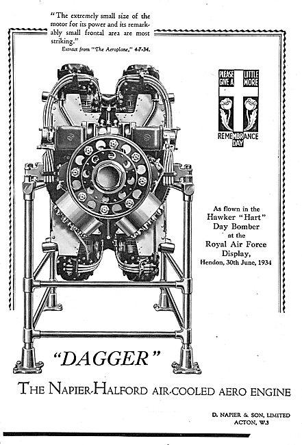 Napier-Halford Dagger Aero Engine - Hawker Hart Day Bomber