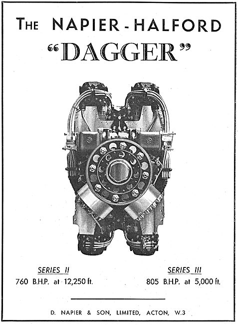 Napier-Halford Dagger Series III  Aero Engine