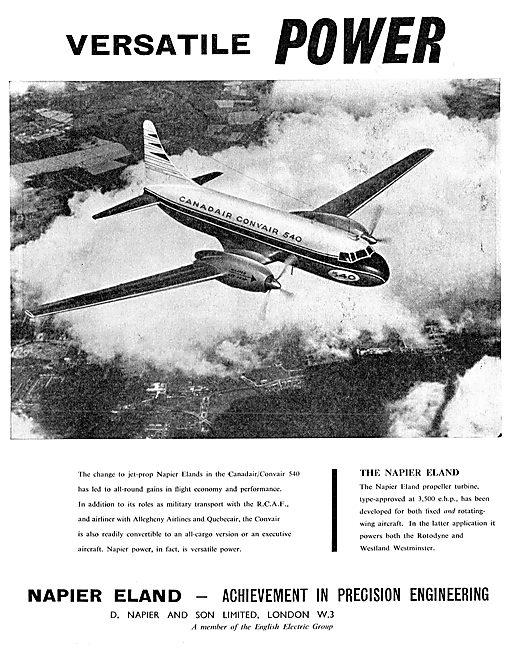 Napier Eland Aero Engines For The Canadair/Convair 540
