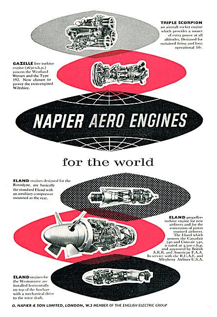 Napier Aero Engines - Napier Eland - Napier Triple Scorpion