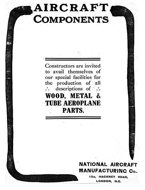 National Aircraft Manufacturing. Aircraft Parts