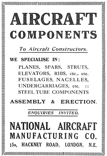 National Aircraft  Manufacturers Of Aircraft Parts