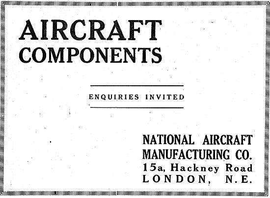 National Aircraft Manufacturing. Manufacturers Of Aircraft Parts