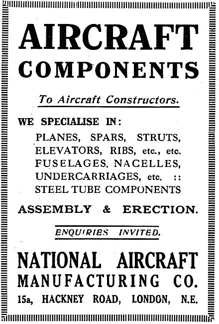 National Aircraft Mfg Co - Manufacturers Of Aircraft Components