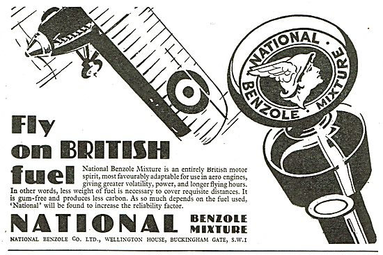 Fly On British Fuel With  National Benzole Mixture.