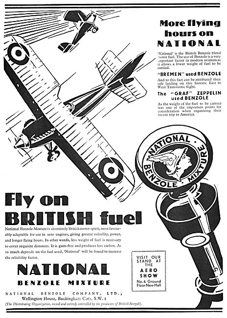 National Benzole Aircraft Fuel 1929