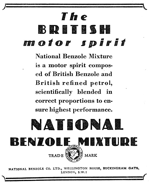 National Benzole 1929