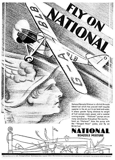 National Benzole Aircraft Fuel 1931