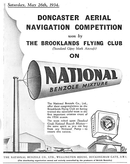 National Benzole Success At The Doncaster Aerial Navigation Comp.