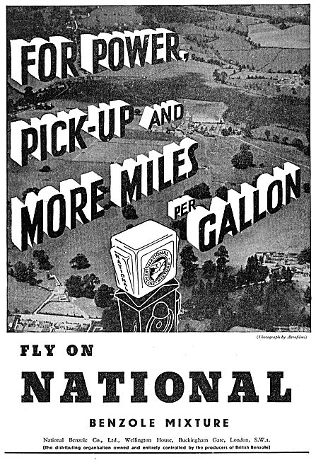 National Benzole For Power, Pick-Up And More Miles.