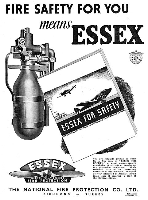 National Fire - Essex Fire Protection Equipment For Aircraft