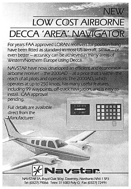 Navstar Airborne Decca Area Navigator