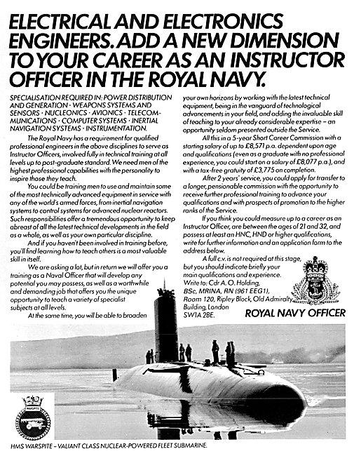 Royal Navy Recruitment Engineers