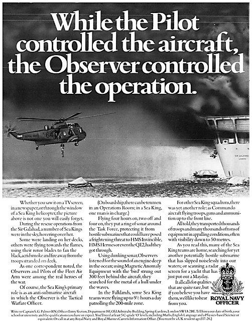 Fleet Air Arm Royal Navy Recruitment Observers 1983