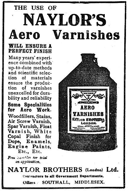 Naylor Brothers Aero Varnishes