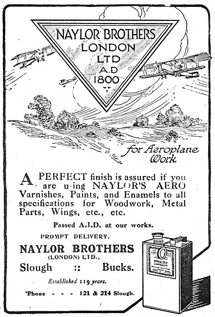 Naylors Paints, Enamels & Varnishes For Aircraft