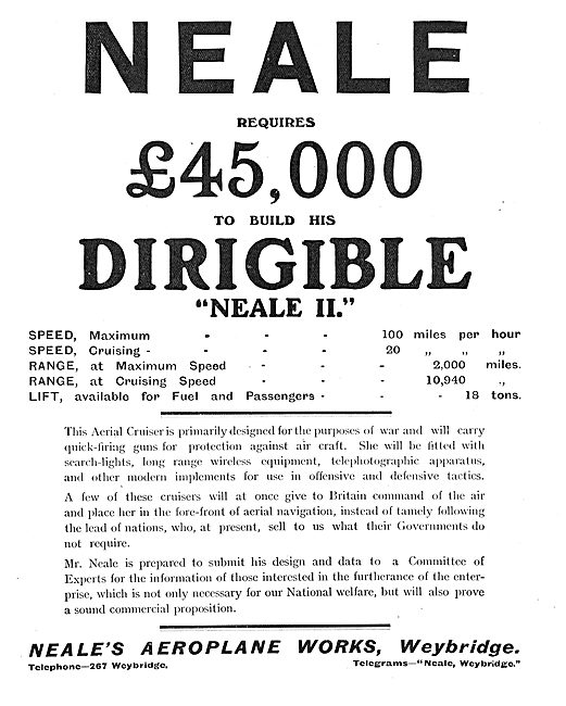 Neale Requires £45,000 To Build His Dirigible Neale II