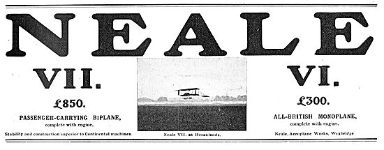 The  Neale VII Passenger-Carrying Biplane: VI Neale Monoplane