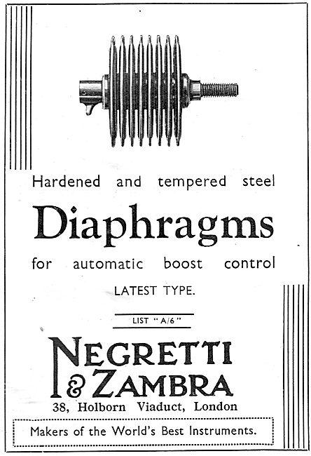 Negretti & Zambra Aircraft Boost Control Diaphragms