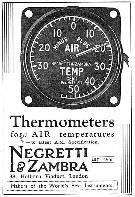 Negretti & Zambra OAT Air Thermometer 1937