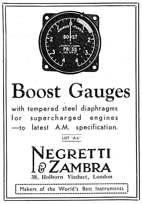 Negretti & Zambra Aircraft Instruments - Boost Gauges