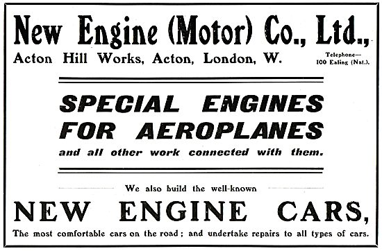 New Engine (Motor) Co Ltd. Engines For Aeroplanes