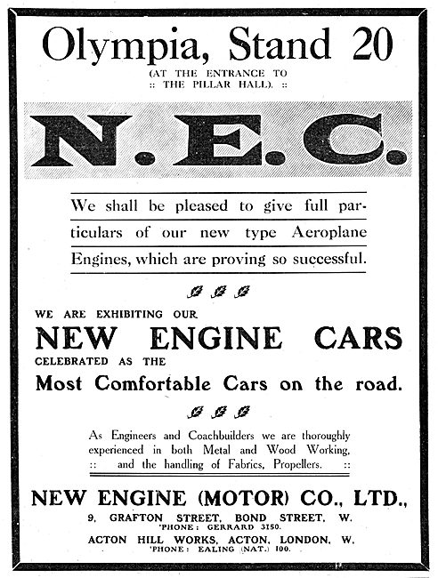 New Engine (Motor) Co. N.E.C. Aero-Engines