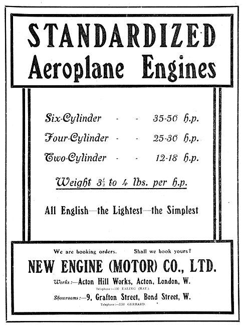 New Engine (Motor) Co. N.E.C. Aero-Engines