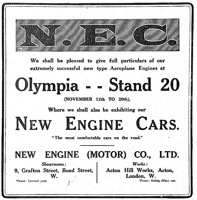 NEC New Engine Aero Motors Are On Show At Olympia