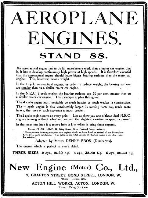 New Engine Motors For Aeroplanes