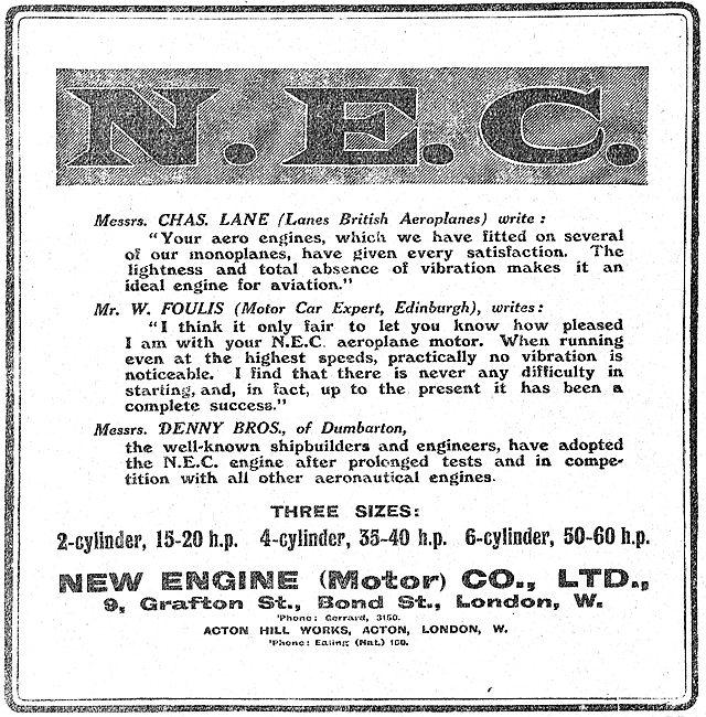 Testimonials For New Engine (NEC) Aero Engines
