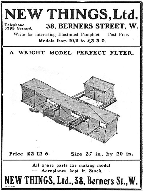 New Things: A Wright Model - Perfect Flyer. £2 12/6.