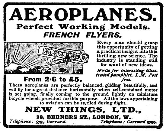 New Things Ltd. Perfect Working Models Of French Flyers