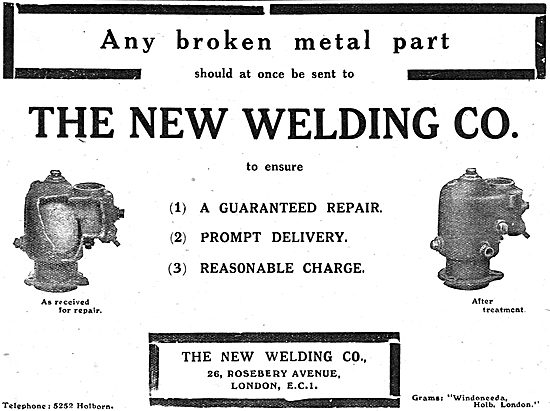 The New Welding Co - Repair Of Aircraft Metal Parts