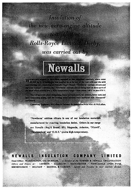 Newalls Insulation Materials. Nicosil