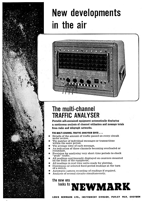 Newmark Multi-Channel ATC Traffic Analyser 1960