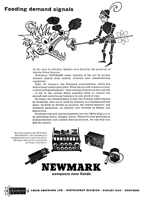 Newmark Helicopter Flight Control Systems 1960