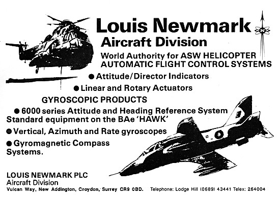 Louis Newmark Automatic Flight Control Systems