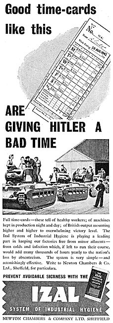 Newton Chambers IZAL System Of Factory Hygiene 1942 Advert