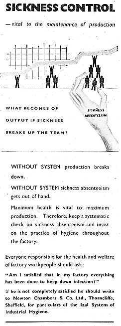 Newton Chambers IZAL System Of Factory Hygiene