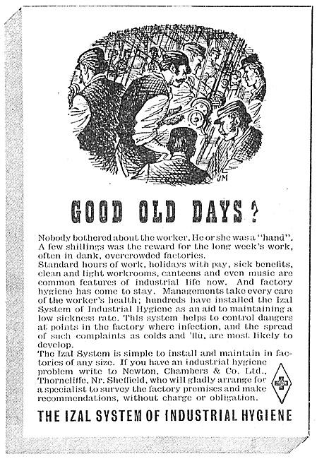 Newton Chambers IZAL System Of Industrial Hygiene 1947