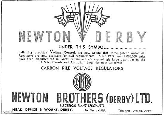Newton Brothers Derby Carbon Pile Voltage Regulators