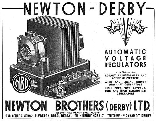 Newton-Derby Generators Voltage Regulators & Rotary Transformers